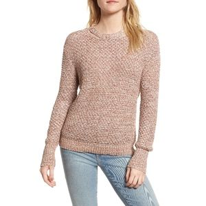 New Ella Moss Melange Open Back Sweater Small